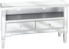 Beliani NICEA - TV-meubel - Zilver - MDF