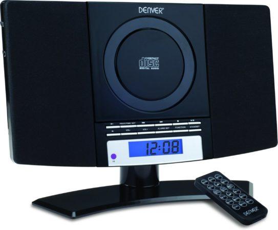 Afbeelding van Voordeeldrogisterij Premium MC-5220 Black Radio/CD-speler met Wandbevestiging - 30 x 11 x 22 cm
