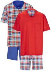 Schlafanzug - Shorty Gregory rot/royal/grün/weiß