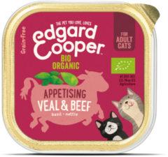 Edgard-Cooper Edgard&Cooper Kuipje Adult Biologisch 85 g - Kattenvoer - Rund&Kalfsvlees