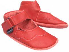 Rode Baby Paws babyslofjes Cindy Rood maat 4 = ( 12,7 cm)