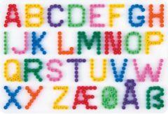 Witte Hama beads Hama strijkkralen grondplaat - Letters