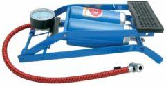 Blauwe Carpoint Voetpomp dubbele cilinder TUV/GS