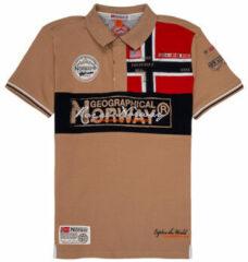 Beige Polo Shirt Korte Mouw Geographical Norway KIDNEY