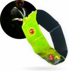 Groene No Limit Lifestyle Hardloop Verlichting - Hardloop Lampjes - Hardloop Licht - Reflecterende Armbanden - LED + Klittenband