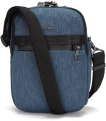 Blauwe Pacsafe Metrosafe X vertical Crossbody - Anti diefstal Schoudertas - 6,5 L - Denim (Dark Denim)