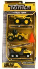 Tonka 3 pak Politiewagen, reddingsvoertuig en bulldozer van metaal