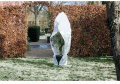 Nature - Wintertuin - Beschermhoes - Voor planten en struiken met rits - Wit - Diameter 150cm x Hoogte 2m