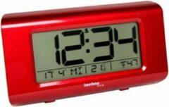 TECHNOLINE WT-197 KLOK / WEKKER met THERMOMETER in fraai hoogglans-rood