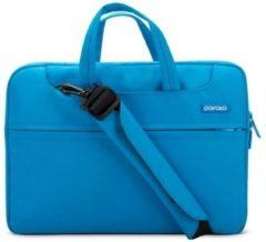 Blauwe POFOKO 15.4 inch laptoptas met schouderband - Blauw