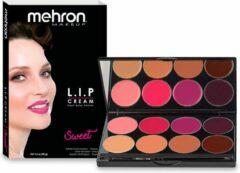 Mehron L.I.P. Lip Cream Hoog Gepigmenteerde Lipstick Professional MUA 8-kleurenpalet - Sweet