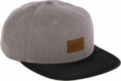 Bruine Reell 6 panel Suede cap Snapback Washed Brown