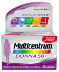 Multicentrum Donna 50+ Integratore Multivitaminico Multiminerale 30 Compresse