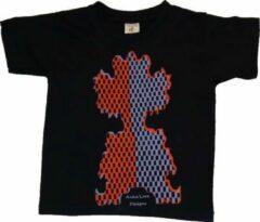 Marineblauwe B & C Anha'Lore Designs - Clown - Kinder t-shirt - Navy - 5/6j (110-116)