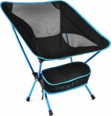 Merkloos / Sans marque Campingstoel - Opvouwbaar - Draagkracht tot 110 kg - Zwart