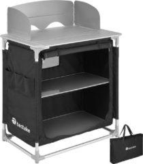 Tectake - campingkeuken 76x53,5x107cm zwart - 403346
