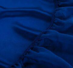 Silkmood Zijden hoeslaken, 100% zijde, 405thread count (19momme), Saffier blauw 180x220cm