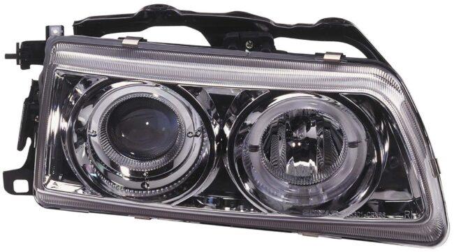 Afbeelding van Universeel Set Koplampen Honda CRX/Civic 1990-1991 - Chroom - incl. Angel-Eyes