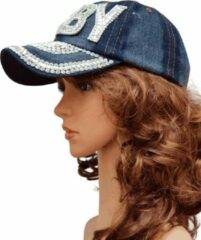 Blauwe Thannaphum Donkere Jeans Strasscap Baby
