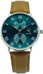 Montreville MON-4 Horloge Manaus staal-leder groen-bruin 40 mm