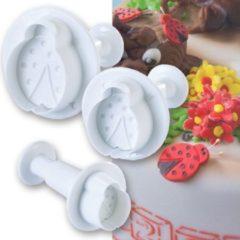 Witte Martellato Uitstekerset Lieveheersbeestje - 3 stuks