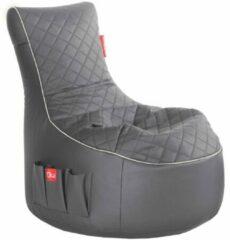 Maison Woonstore Maison's Luxe Game Zitzak - Bean Bag - Gaming - Game stoel - Grijs Wit - Zitzak -Polyster- Kunstleer -95x65x90
