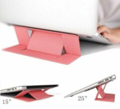 Opline Laptops tandaard Verstelbare laptop computer stand Multi-hoekstandaard Tablet standaard Draagbare opvouwbare laptop verhoger Notebook houder standaard compatibel voor 9,7 tot 15,6-inch laptops - Donker roze