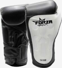 Forza Fighting Gear FORZA LEREN BOKSHANDSCHOENEN – TRIBAL – ZWART/WIT
