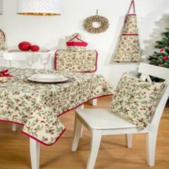 Rode Emme Pannenlap - luxe gobelinstof - Christmas Berries - All over - Kerst