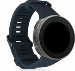 Antraciet-grijze Kwmobile horlogeband voor Polar Vantage V - siliconen armband voor fitnesstracker - antraciet