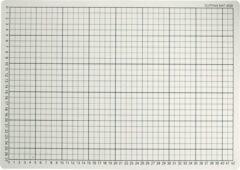 1x Grijze hobby snijmat 30 x 45 cm A3 formaat - Papier snij onderlegger/placemat met ruitjes