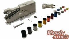 Zwarte Handy Switch Handy Stitch - PREMIUM Handnaaimachine met USB Kabel + 16 Spoelen garen en accessoires - Compact - Draagbare reis naaimachine - Elektrisch of op Batterijen