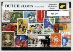 Transparante KLOMP G.T.P Holland / Nederland - postzegelpakket cadeau met 100 verschillende postzegels