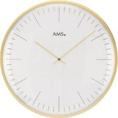 Goudkleurige AMS 9541 Wandklok goudkleurig 40 cm ø