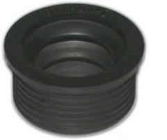 Zwarte De Beer rubber manchet metaal 50x40mm. 112450001