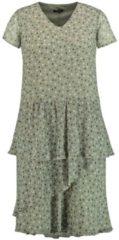 Midi-Kleid mit schwingendem Rockteil Samoon Tinte Lipstick