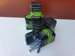 Blauwe Expandet Super Nylon plug met Houtdraadbouten 10 x 50 mm 5 stuks