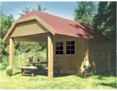 Solid tuinhuis 'Cork' hout 7,53 m²