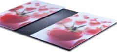 Zeller Present Herdabdeck-/Schneideplatten »Tomate«, 2-er Set, 30 x 52 cm