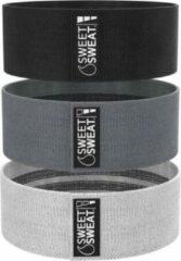 Donkergrijze Sports Research Sweet Sweat - Premium Heup Weerstandsbanden Set van 3 - Resistance Band - Fitnessband - Weerstandsbanden - Fitnessband