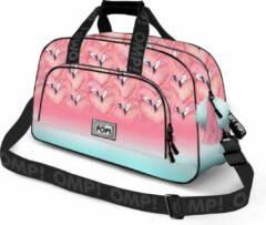 Oh My Pop - Flamingo - Sporttas dames - Roze - Lengte 51cm