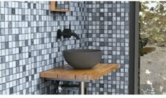 Ideavit Solidmicro opbouw wastafel 23x11.5 Solidsurface donkergrijs 290209