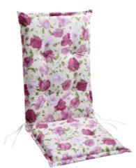 Sesselpolster für Hochlehner BEST FREIZEITMÖBEL rosa Blumen