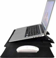 Somstyle Laptophoes 13 Inch – Macbook Pro 13 Inch case – Macbook Air 2018/2019/2020 Case – Laptop Sleeve – Zwart Leer