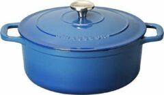 Blauwe Chasseur Ronde Stoofpan in Geëmailleerd Gietijzer Poseidon 0,6l - 12cm 4712 41