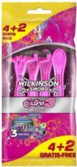 5 mesjes Wilkinson Sword Extra II Aloe Vera Wegwerpscheermesjes