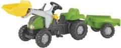 Groene Rolly Toys RollyKid-X - Traptractor met Frontlader en Aanhanger