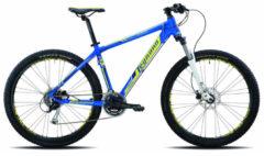 Legnano 27,5 ZOLL LAVAREDO HARDTAIL MOUNTAINBIKE ALUMINIUM 24-GANG MTB Hardtail Herren blau-gelb-schwarz