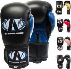 Ali's fightgear bokshandschoenen bt go zwart met blauw - 14 oz - M/L