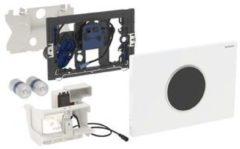 Geberit Sigma 10 WC-stuursysteem Sigma 10 SF electronisch, touchefree, batterijvoeding 24.6x16.4cm m. infrarood t.b.v. UP300/320 wit/mat verchr./mat verchr.